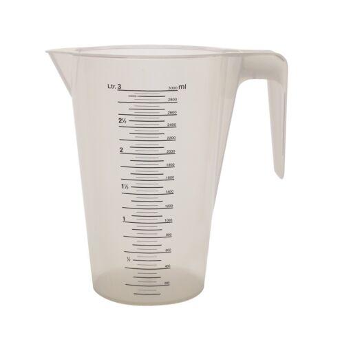 Messbecher  Literbecher Maßbecher stapelbar 1 bis 5 ltr Profiqualität PP