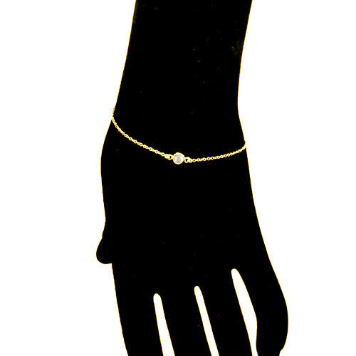 Diamond By The Yard Station Tennis Bracelet Single Diamond F// VS// 14k Natural