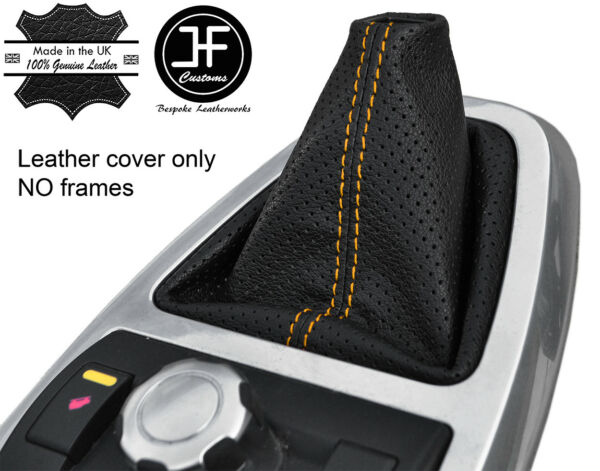 2019 Nieuwe Stijl Yellow Stitch Perforated Leather Gear Gaiter For Land Rover Freelander 2 06-14