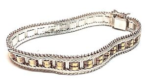 Sterling-Silver-925-Italy-Made-Bracelet-Marked-Milor