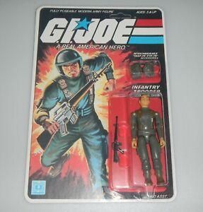 *RECARDED* 1982 GI Joe Grunt v1 Figure Complete Sealed *CUSTOM File Card Back*