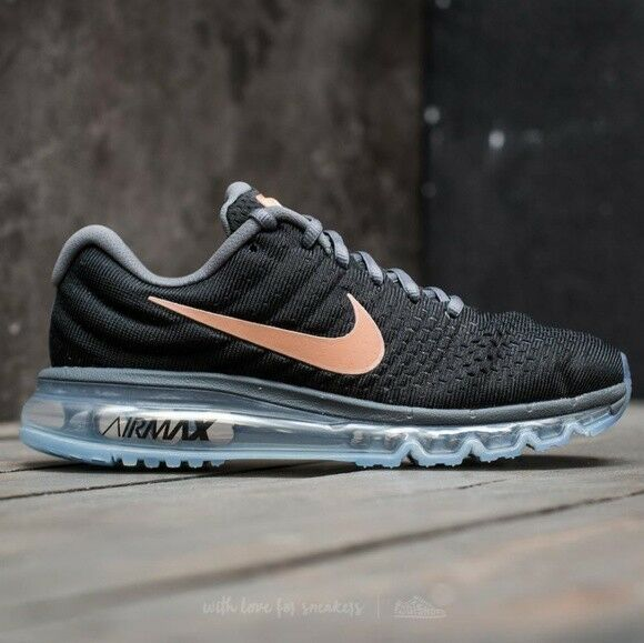 Nike Air Max 2017 Black Red Bronze 849560-008 Women's Running shoes Multi Size