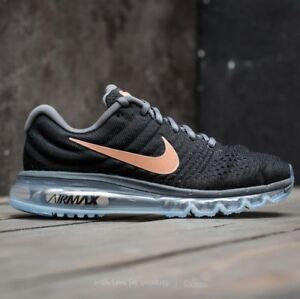 hot sale online db740 a22b6 Details about Nike Air Max 2017 Black Red Bronze 849560-008 Women's Running  Shoe Multi Size