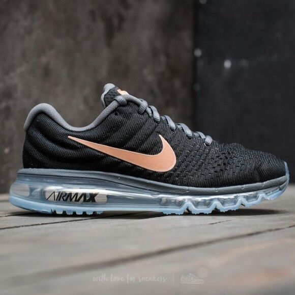 premium selection 4400a dcb9f Nike Womens Air Max 2017 Running Shoes Black white anthracite 849560-001  Size 9 for sale online   eBay