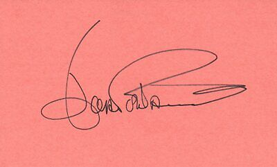 Autographs-original Lovely Joan Fontaine Actress 1975 Waldorf Astoria Movie Autographed Signed Index Card High Quality And Inexpensive