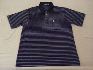 1dec4ff3 Mens Yves Saint Laurent Silk Polo Shirt XL Black Stripes YSL   eBay
