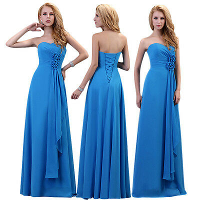 Womens Dresses Long Chiffon Evening Formal Party Ball Gown Prom Bridesmaid Dress