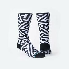 Stance Bow Anthem 545 Crew Socks Men Size L//XL 9-13 Black//Blue Pattern