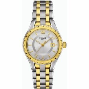 Tissot Swiss Made T-Classic Small Lady 2 Tone Gold Plated Stainless Steel Watch