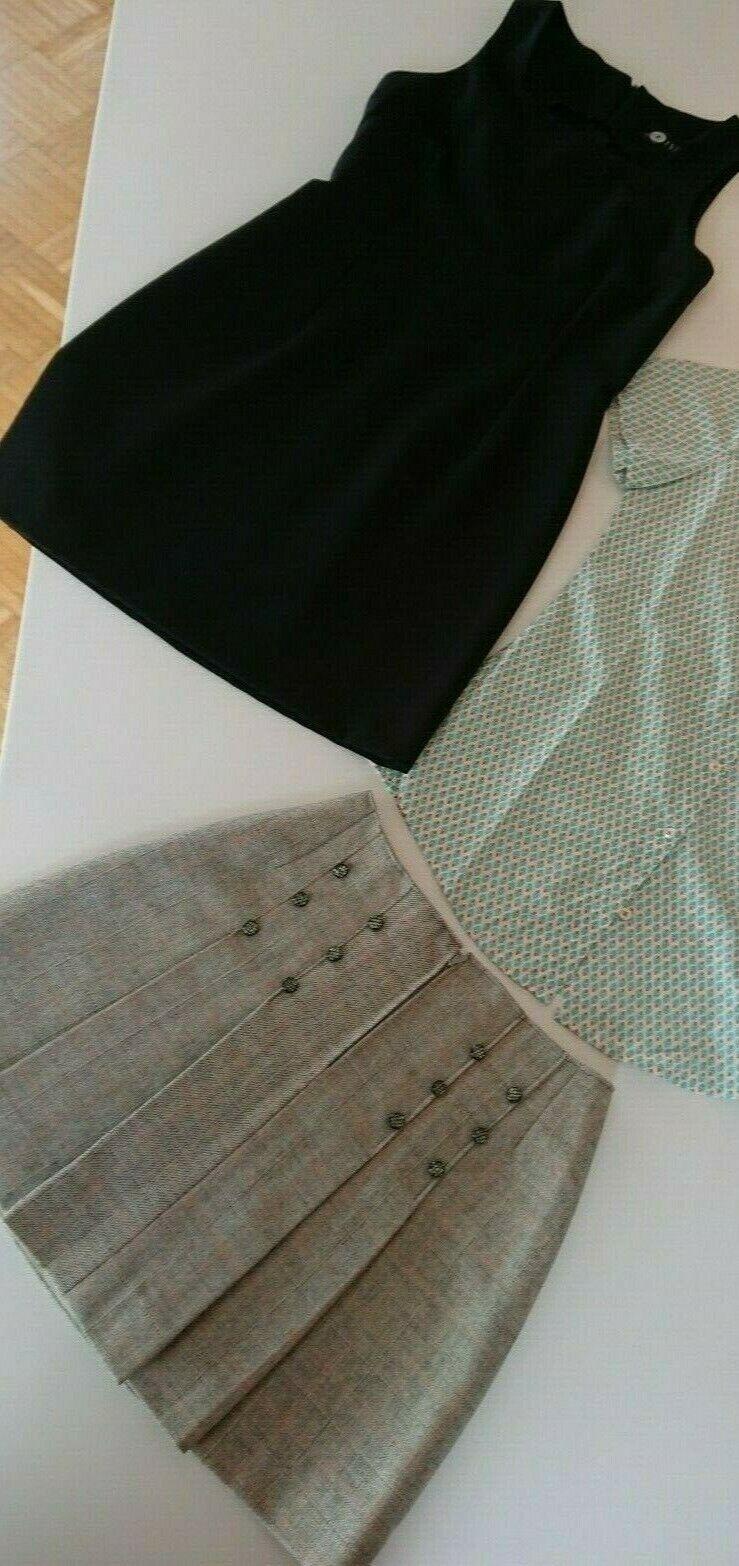 2 Teile Bekleidungspaket Damen Gr. 34 Minifaltenrock, Kleid