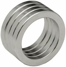4 Neodymium Magnets 1 x 3/4 x 1/8inch Ring N48
