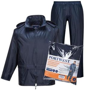 Portwest-Essentials-Impermeable-Chaqueta-amp-Traje-de-Pantalon-Peto