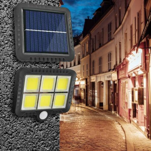 120 LED Solar COB Wall Light Garden Outdoor Floodlight Waterproof Motion Lamp UK