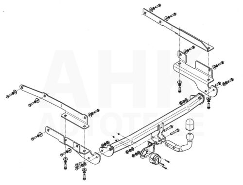 attelage rigide E-Jeu 7p Pour Mitsubishi Colt z30 5-tür 05-13 complet