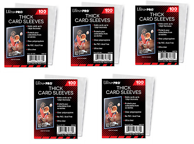 100 ULTRA PRO THICK 130 PT CARD SLEEVES #81380