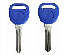 2 NAVY Replacement Transponder Ignition Key Uncut Blade Blank Car Key Chipped