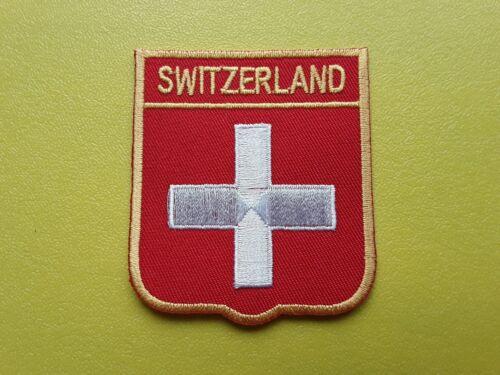 WORLDWIDE FREEPOST COUNTRY SHIELD FLAG SEW /& IRON ON PATCH SWITZERLAND
