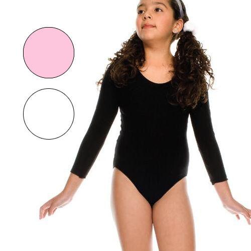 Longsleeve Girls Kids Dance Costume Gymnastics Unitard Leotard Bodysuit 4 Sizes
