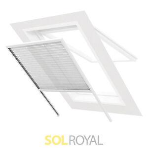 insektenschutz fenster wei dachfenster plissee fliegengitter m ckenschutz dach ebay. Black Bedroom Furniture Sets. Home Design Ideas