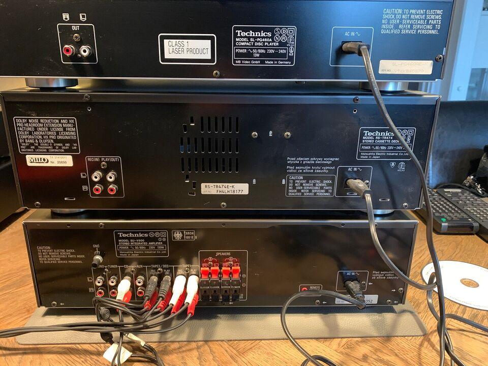 Stereoanlæg , Technics, Su-v500/r's-tr474/al-pg460a