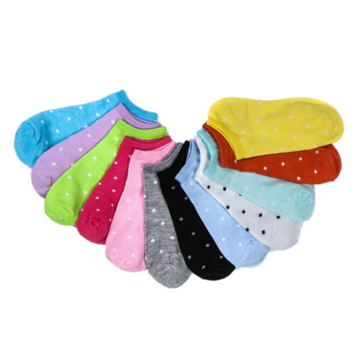 5pairs Cute Love Women Socks Candy Color Sweet Ship Boat Short Ankle Socks FOUS