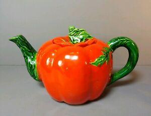 Vintage-Tomato-Tea-Pot-Maruhon-Ware-Hand-Painted-Japan-Teapot-Exc-Condition