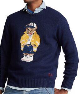 Polo-Ralph-Lauren-Men-039-s-CP-93-Bear-Sweater-Size-S
