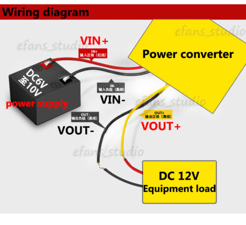 36W DC-DC Boost Step Up Converter 6V~10V 8V 9V to 12V 3A Car Power Supply Module