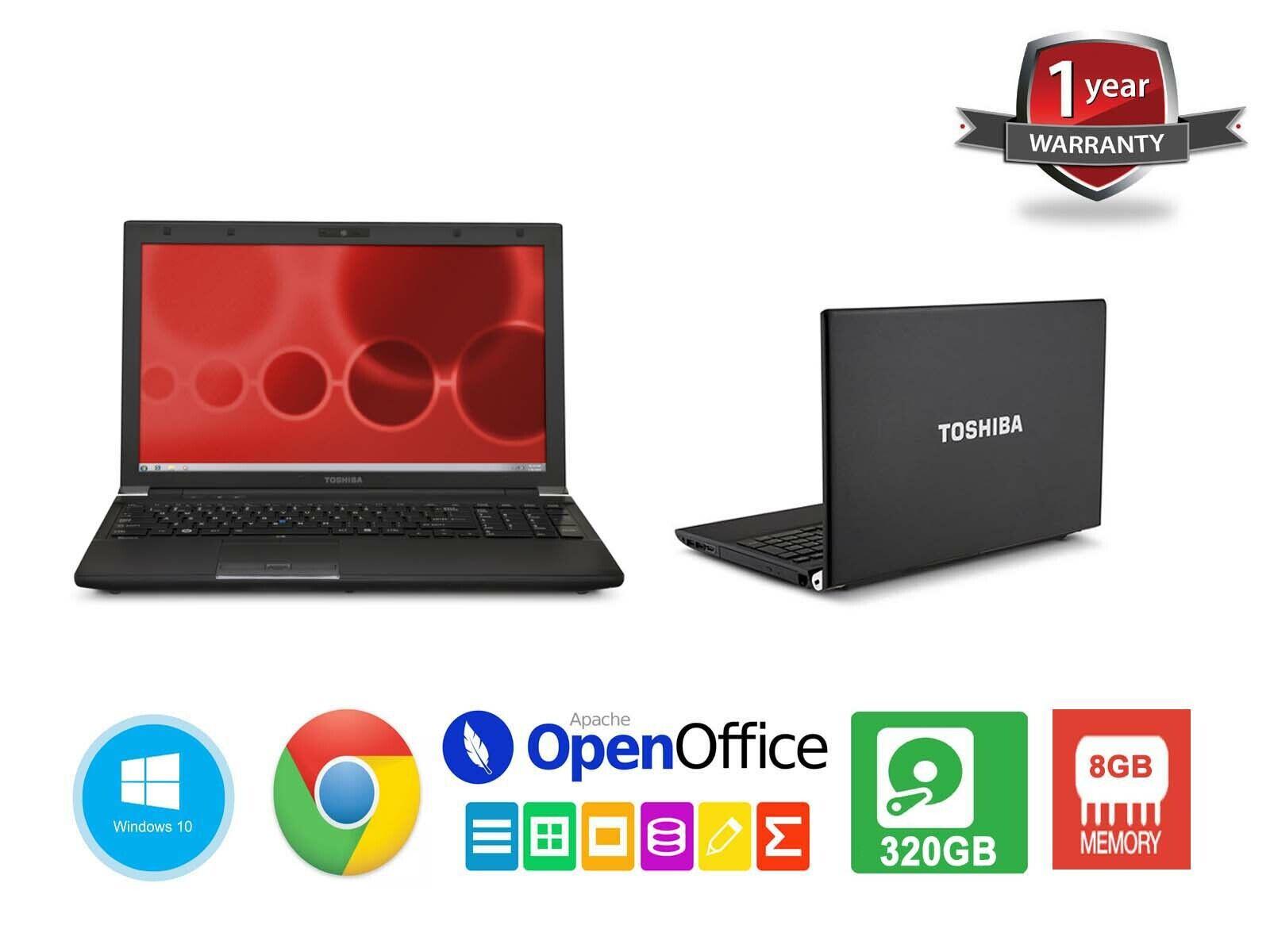 Cheap Toshiba 15.6″ Laptop IntelCore i5 8GB RAM 200GB SSD Win10 WiFi HDMI WebCam