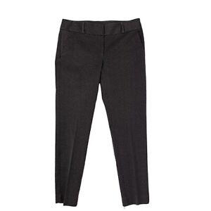 Ann-Taylor-Loft-Women-039-s-Size-6-Julie-Skinny-Pants-Flat-Front-Gray-Ankle