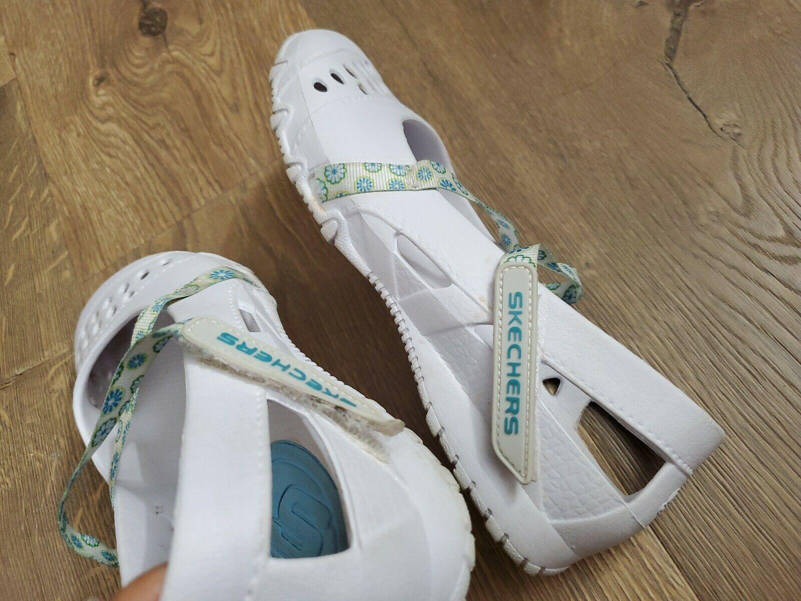 Купить White SKECHERS Mary Janes Rubber