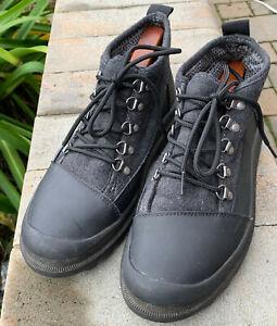 1d1b5205cba Detalles acerca de Zapatos Botas Para Excursionismo Cordova Toms Para  Hombre De Cuero Negro De Lana US 9- mostrar título original