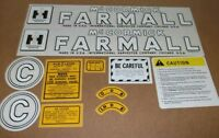 Farmall Model C Decal Set. All Decals On Tractor. Years 1949-51.