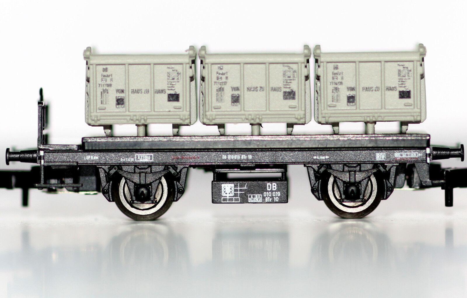 Märklin Spur Z 80320 80320 80320 Insider Jahreswagen 2010 Behälter Tragwagen Neu 538184