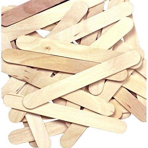 "130 pcs  4.2/"" Wooden Craft Popsicle Sticks Ice ceam Epoxy Paint Mixing Wood Bulk"