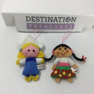 Disney Museum Mary Blair Cel Phone Charms or Ornaments Set 2