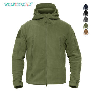 Fleece-Lining-Mens-Army-Jackets-Military-Tactical-Hooded-Coats-Zip-Up-Outwear