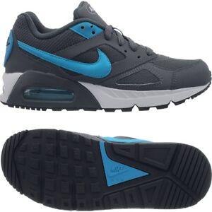 Details zu Nike Air Max Ivo Jungen Sneakers graublau Freizeitschuhe Jogging Leder NEU