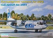 Eastern Express 1/144 An-24RV Polar Airlines/UTair Civil Airliner