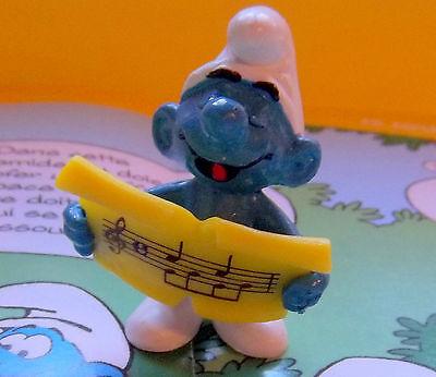 20038 Schtroumpf choriste variante smurf chanteur puffo puffi pitufo variante