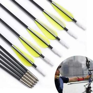 """6PCS 26"""" Fiberglass Archery Arrows Spine 1000 Target Bow For Recurve Bow Hunting"""
