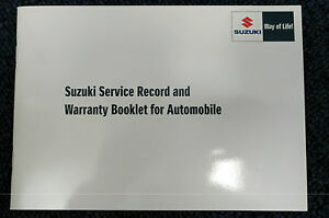 NEW-Genuine-Suzuki-CAR-Service-Book-Record-12-500-Mile-Servicing-99000-99004-SMC