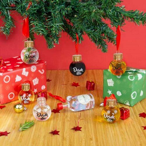 Festive boozeballs 6x vierges Drink Me Arbre de Noël boules Fête Décoration