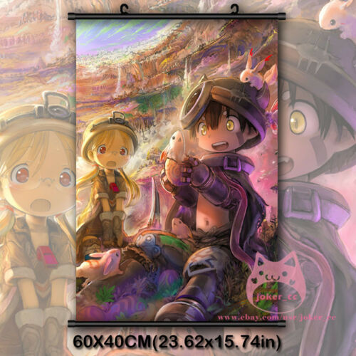 Made in Abyss Abisu Regu Japanese Anime Wall Scroll Poster Decor Painting Gift