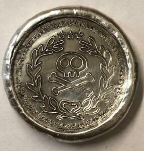 """.75 tr//oz MK BarZ  /""""Fireman/'s Axe/"""" 2D.999 Fine Silver POURED"""