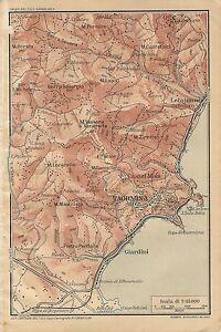 Carta geografica antica taormina e dintorni messina sicilia tci 1919 caricamento dellimmagine in corso carta geografica antica taormina e dintorni messina sicilia altavistaventures Images