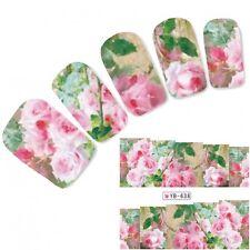 Tattoo Nail Art Flower Aufkleber Rosa Rose Blumen Water Decall Neu!