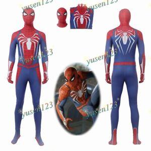 Spiderman ps4 Suits Cosplay Costume Jumpsuit Mask Bodysuit