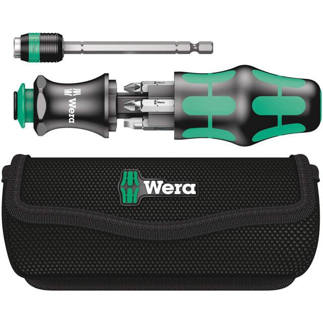 Wera Telescoping Screwdriver Kraftform Kompakt Bit Holder Set with Pouch KK 20