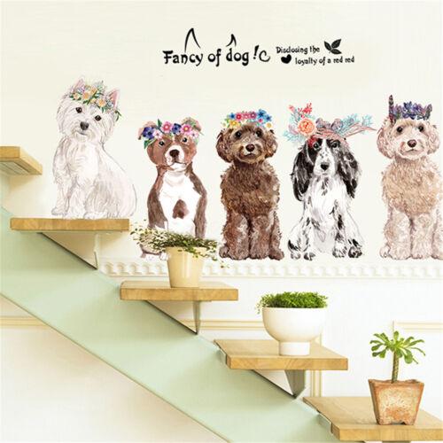 Cachorro Cachorrinho De Parede Janela Adesivo Quarto Crianças Berçário Decalques De Vinil Decoração Casa Loja